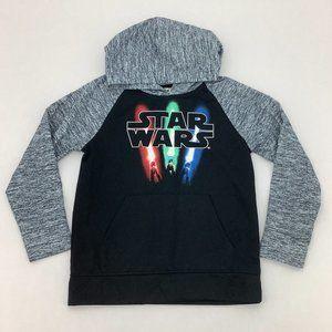 Disney | Boy's Star Wars Hoodie | Black and Grey